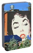 Hanging Out With Elizabeth Taylor Portable Battery Charger