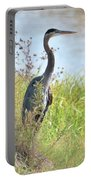 Hank The Blue Heron Portable Battery Charger