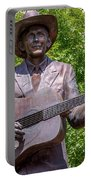 Hank Williams Statue - Cropped Portable Battery Charger
