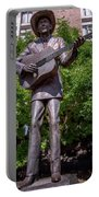 Hank Williams Statue - Montgomery Alabama Portable Battery Charger