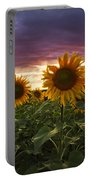 Happiness Is A Field Of Sunflowers Portable Battery Charger