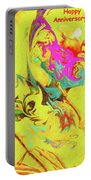 Happy Anniversary Abstract  Portable Battery Charger
