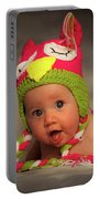 Happy Baby In A Woollen Hat Portable Battery Charger