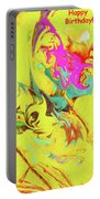 Happy Birthday Lilac Breasted Roller Abstract Portable Battery Charger