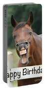 Happy Birthday Smiling Horse Portable Battery Charger