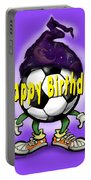 Happy Birthday Soccer Wizard Portable Battery Charger