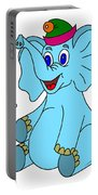 Happy Blue Elephant Portable Battery Charger