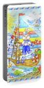 Happy Bunny On The Boat Portable Battery Charger