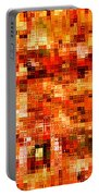 Happy Colors Abstract Portable Battery Charger by Carol Groenen