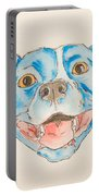 Happy Dog Blue Portable Battery Charger