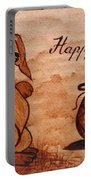 Happy Easter Coffee Painting Portable Battery Charger