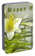 Happy Easter Lily Portable Battery Charger