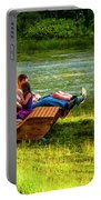 Young Family Enjoying The Swiss Country Side Portable Battery Charger