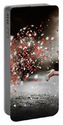 Happy Flower Girl In A Running Love Heart Romance Portable Battery Charger