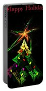 Happy Fractal Holidays Portable Battery Charger