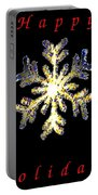 Happy Holiday Snowflakes Portable Battery Charger