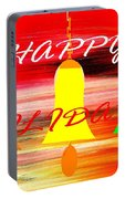 Happy Holidays 11 Portable Battery Charger