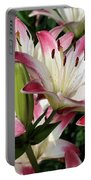 Happy Lilies Portable Battery Charger