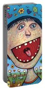 Happy Pill Portable Battery Charger by James W Johnson