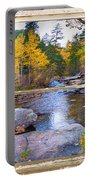 Happy Place Picture Window Frame Photo Fine Art Portable Battery Charger