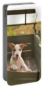 Happy Puppy Wagon Ride Portable Battery Charger