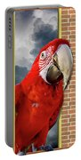 Happy Red Parrot Portable Battery Charger