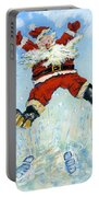 Happy Santa  Portable Battery Charger by David Cooke