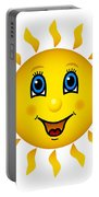 Happy Smiling Sun Portable Battery Charger
