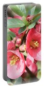 Happy Spring Flowering Quince Card And Poster Portable Battery Charger