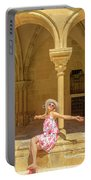 Happy Tourist Visits Coimbra Portable Battery Charger