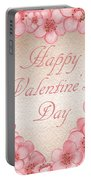 Happy Valentine Pink Heart Portable Battery Charger