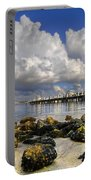 Harbor Clouds At Boynton Beach Inlet Portable Battery Charger