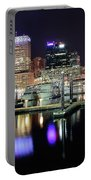 Harbor Nights In Baltimore Portable Battery Charger