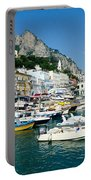 Harbor Of Isle Of Capri Portable Battery Charger by Jon Berghoff