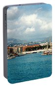Harbor Scene In Nice France Portable Battery Charger