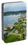 Harbor Springs From Above Portable Battery Charger