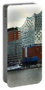 Harbor View With Elbphilharmonie Portable Battery Charger