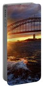 Harbour Bridge Sunset By Kaye Menner Portable Battery Charger