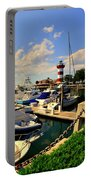 Harbour Town Marina Sea Pines Resort Hilton Head Sc Portable Battery Charger by Lisa Wooten