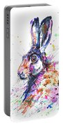 Hare In Grass Portable Battery Charger