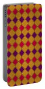 Harlequin Gold Purple Coral Portable Battery Charger