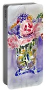 Harlequin Or Bright Side Of Life Portable Battery Charger