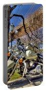 Harley Davidson And Brooklyn Bridge Portable Battery Charger