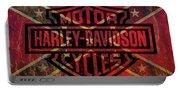 Harley Davidson Logo Confederate Flag Portable Battery Charger