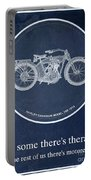 Harley Davidson Model 10b 1914, For Some There's Therapy, For The Rest Of Us There's Motorcycles Portable Battery Charger