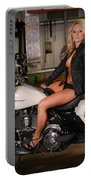 Harley Davidson Motorcycle Babe Portable Battery Charger