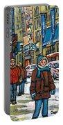 Achetez Les Meilleurs Scenes De Rue Montreal Best Original Art For Sale Montreal Streets Paintings Portable Battery Charger