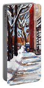 Canadian Winter Scene Paintings Original Art Verdun Montreal Achetez  Paysages De Quebec C Spandau Portable Battery Charger