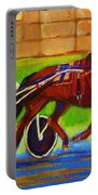 Harness Racing At Bluebonnets Portable Battery Charger