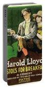 Harold Lloyd In Pistols For Breakfast 1919 Portable Battery Charger